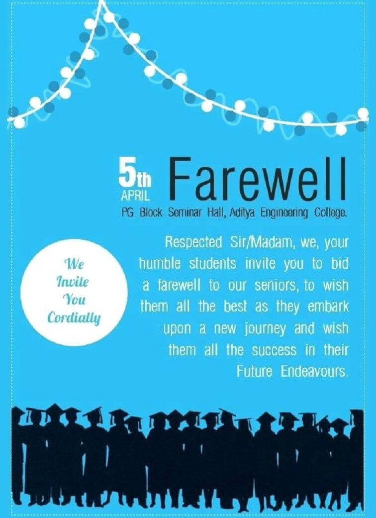 Farewell Party Invitation Flyer Template In 2019   Farewell Inside Seminar Invitation Card Template
