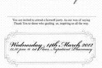 Farewell Party Invitation Note In 2019 | Farewell Party for Farewell Invitation Card Template