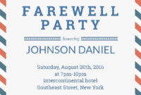 Farewell Party Invitation Template | Party Invitation Card inside Bon Voyage Card Template