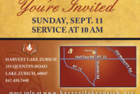 Fascinating Church Invitation Cards Templates Template Ideas regarding Church Invite Cards Template