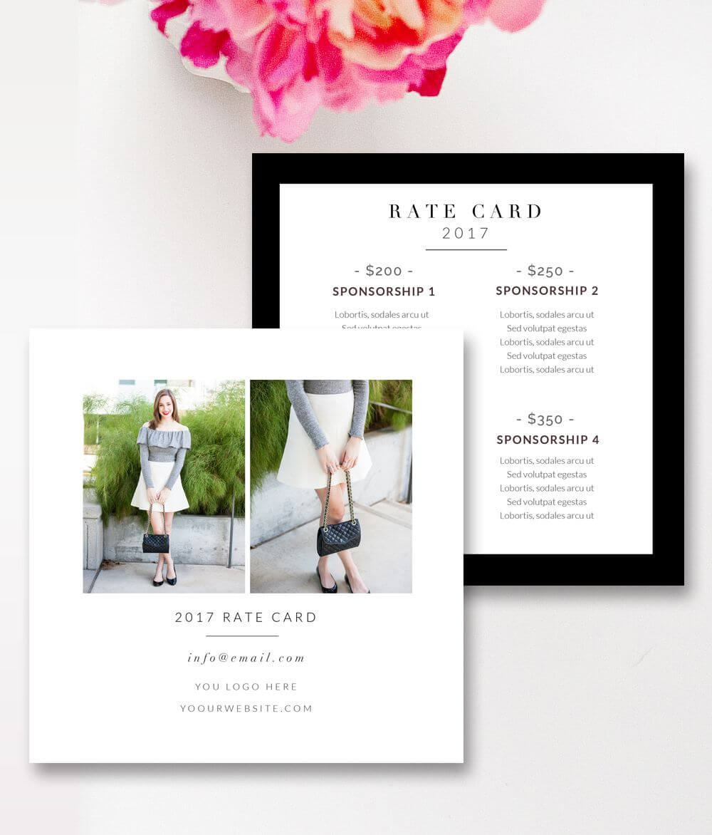 Fashion & Beauty Blogger Rate Card Template |Stephanie For Rate Card Template Word