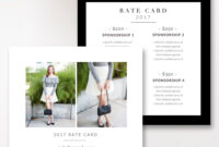 Fashion & Beauty Blogger Rate Card Template |Stephanie regarding Advertising Rate Card Template