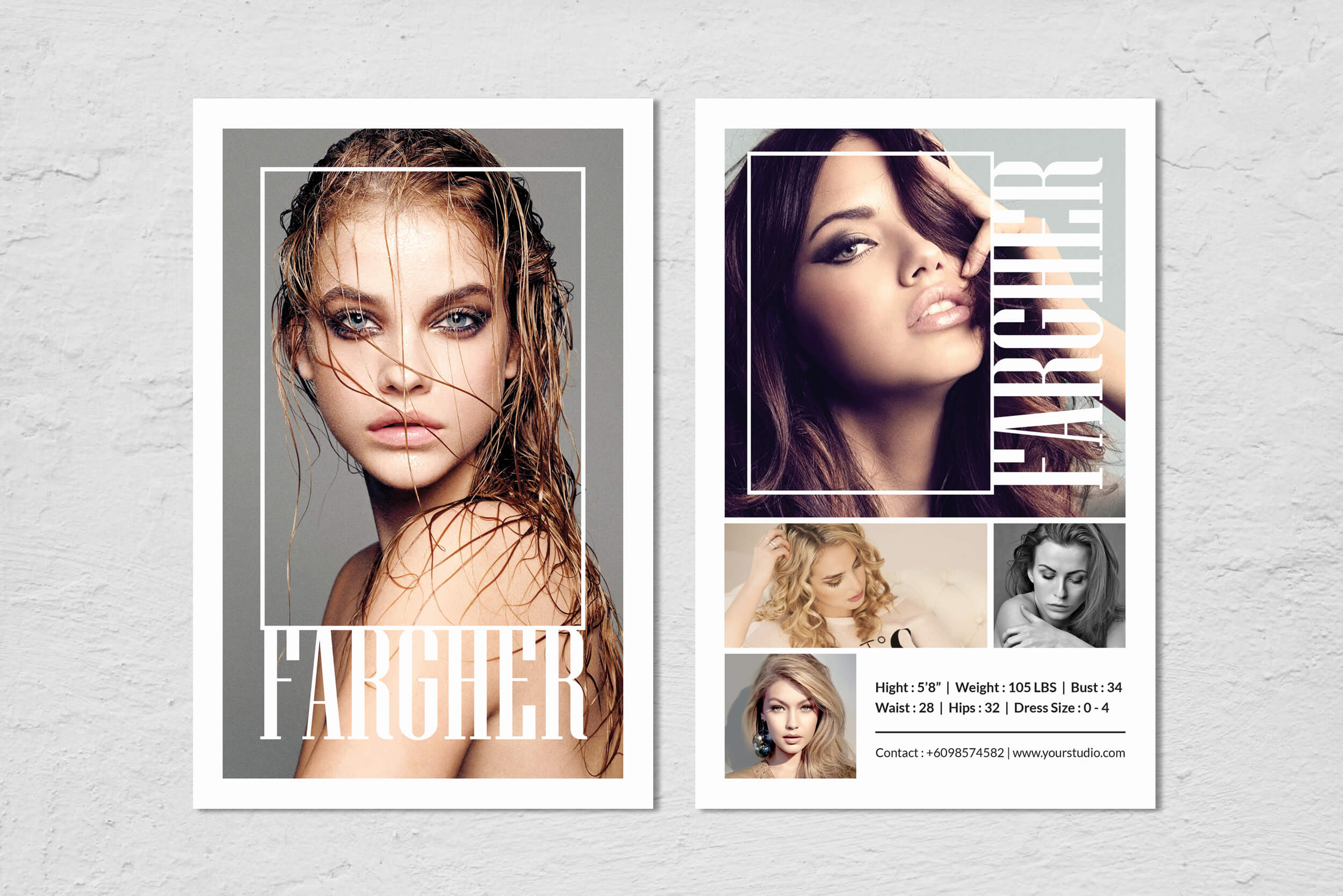Fashion Modeling Comp Card Template inside Model Comp Card Template Free