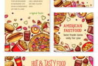 Fast Food Banner And Poster Template Set Design Inside Food Banner Template