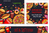Fast Food Meal For Restaurant Banner Template for Food Banner Template