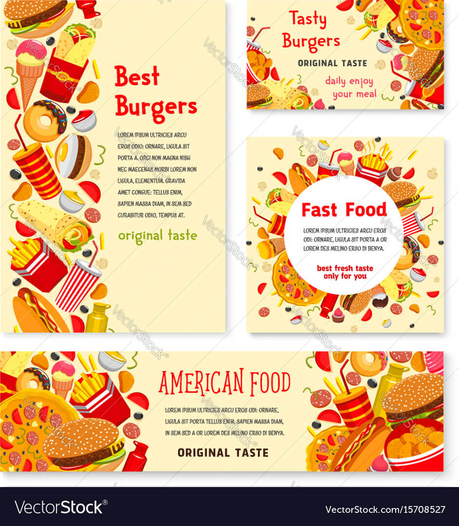 Fast Food Restaurant Banner And Poster Template intended for Food Banner Template