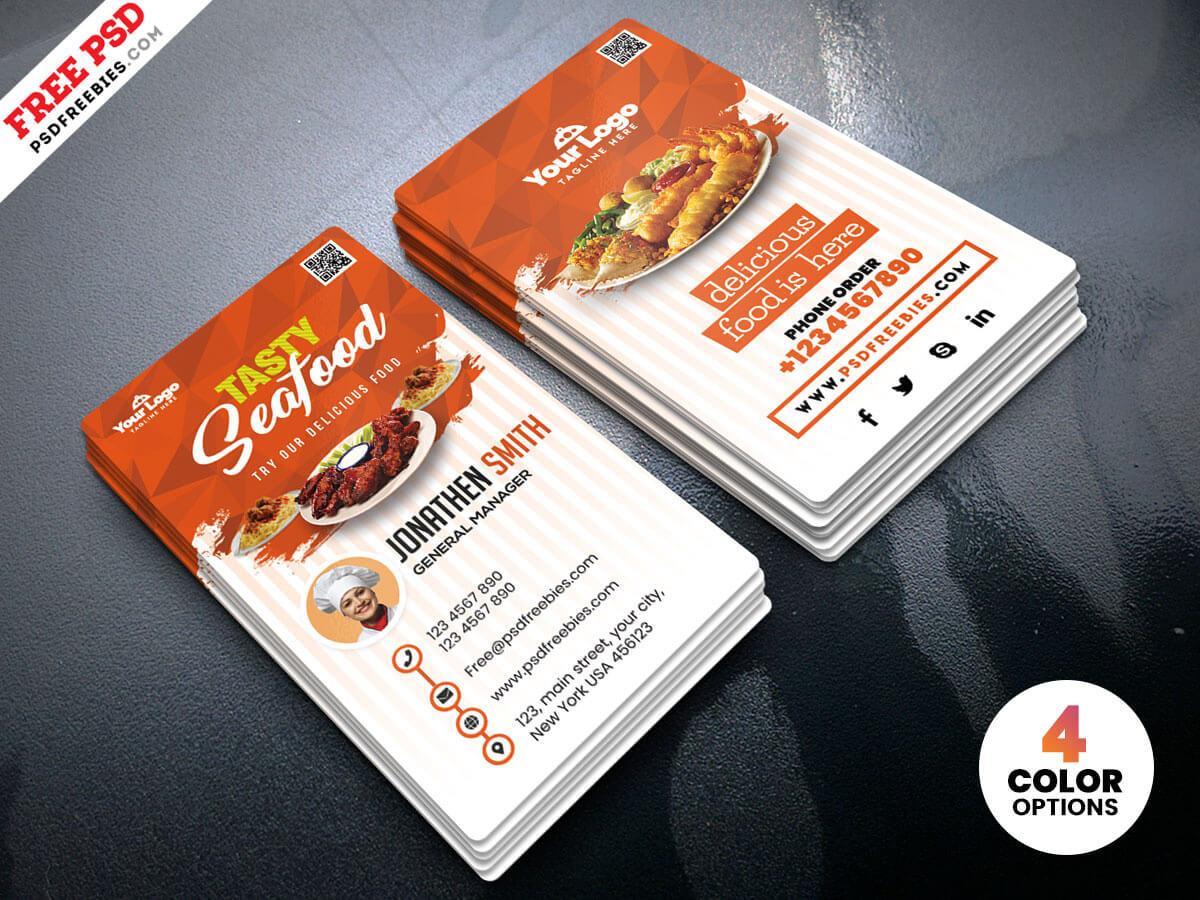 Fast Food Restaurant Business Card Psdpsd Freebies On Pertaining To Restaurant Business Cards Templates Free