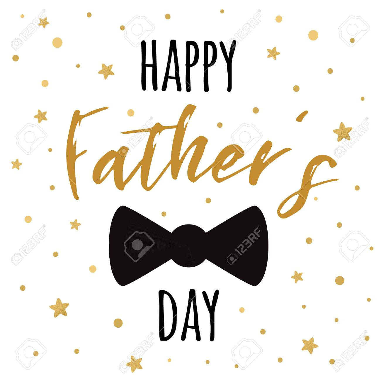 Fathers Day Banner Design With Lettering, Black Bow Tie Butterfly for Tie Banner Template