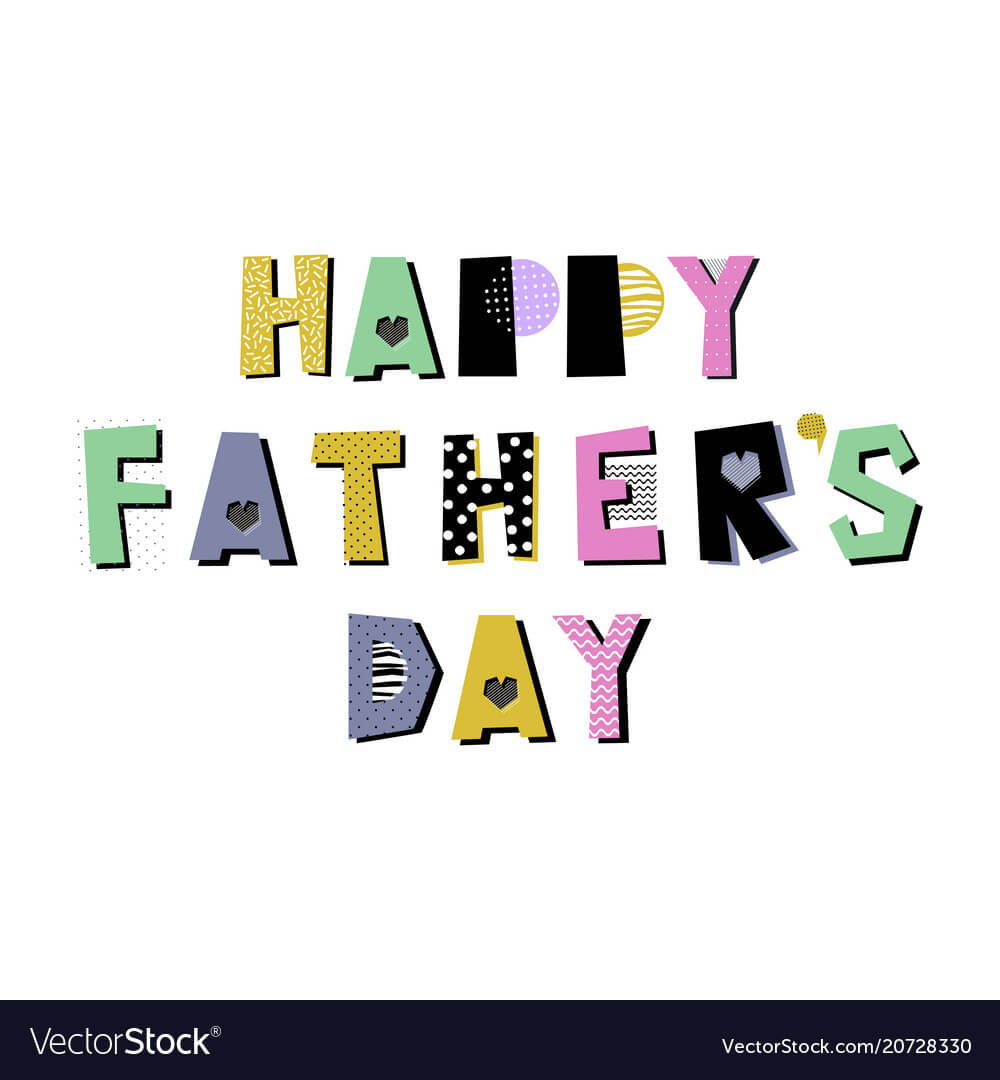 Fathers Day Card Template inside Fathers Day Card Template
