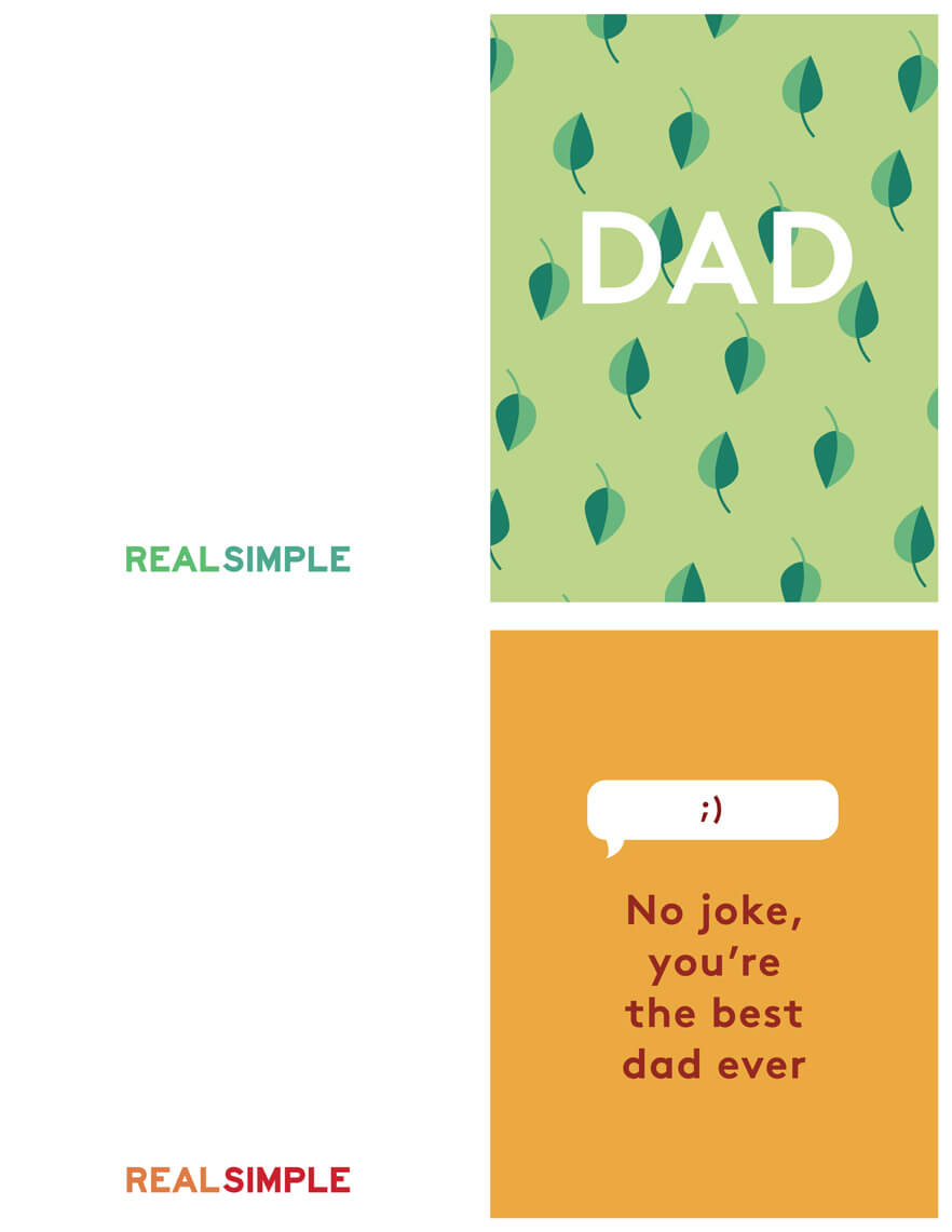 Father's Day Printable Cards   Real Simple in Fathers Day Card Template