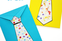 Father's Day Tie Card (With Free Printable Tie Template regarding Fathers Day Card Template