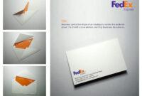 Fedex: Envelope   Business Cards   Custom Business Cards for Fedex Brochure Template