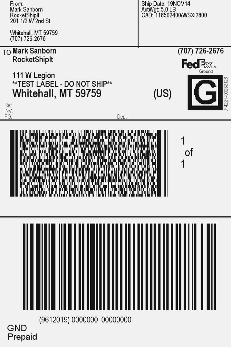 Fedex Label Template Word - Cumed With Fedex Label Template Word