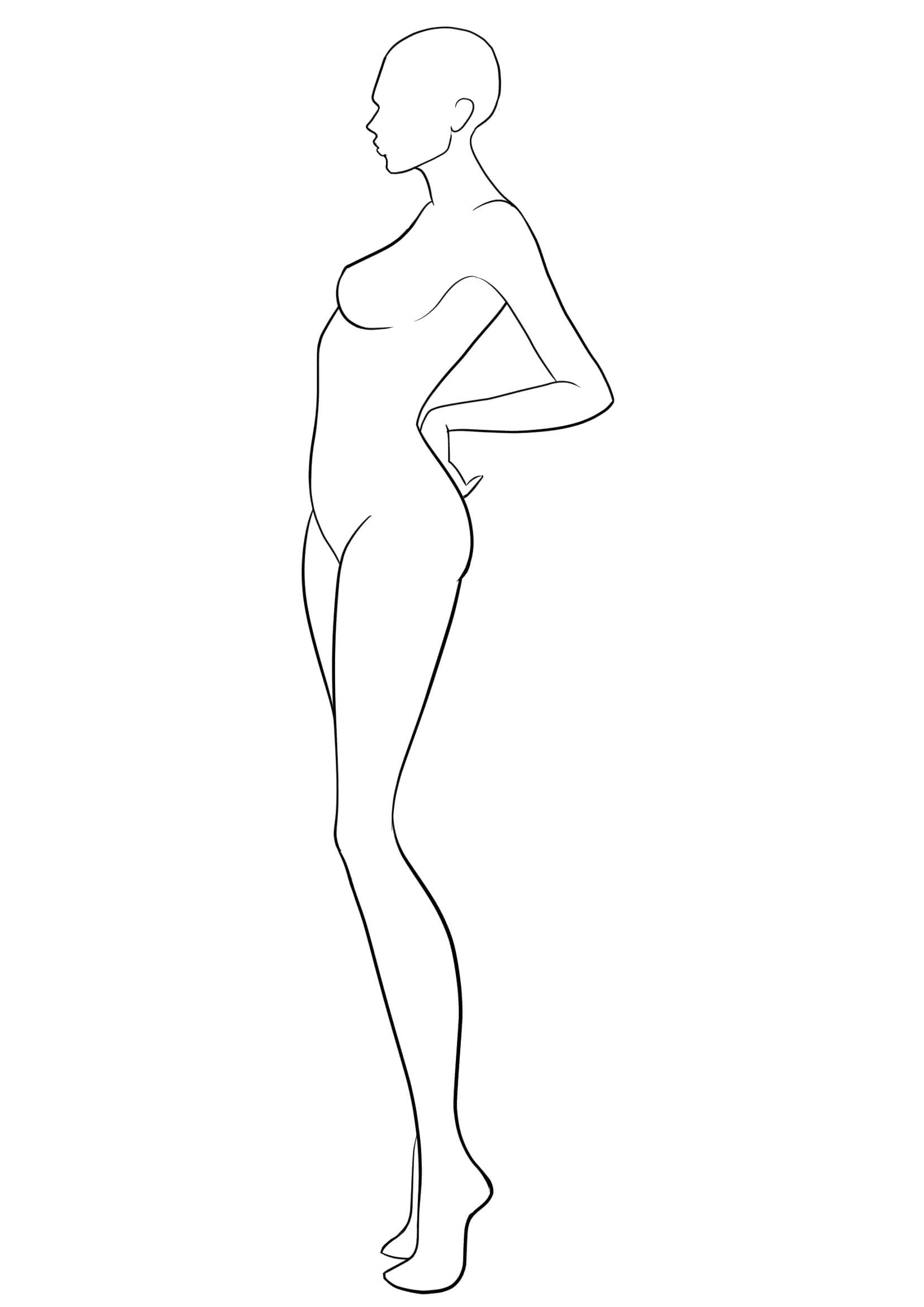 Figure Template 38   Fashion Design Template, Fashion Figure Intended For Blank Model Sketch Template
