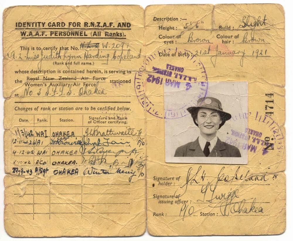 File:waaf Rnzaf 1921 - Wikimedia Commons for World War 2 Identity Card Template