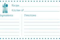 Fillable Recipe Card Template – Atlantaauctionco throughout Fillable Recipe Card Template