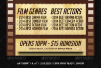 Film Festival Graphics, Designs & Templates From Graphicriver in Film Festival Brochure Template