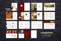 Fine Wine Vol. 1 Brochure #adobe#indesign#compatible#ready for Wine Brochure Template