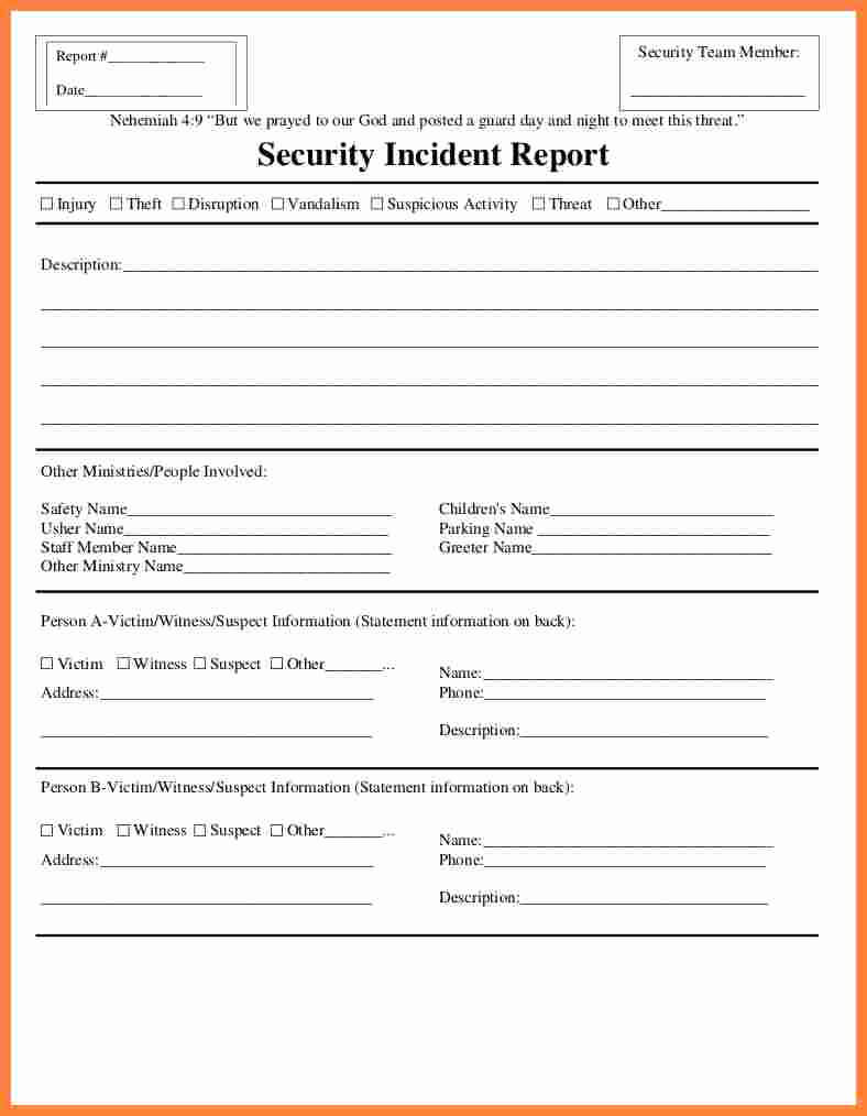 Fire Incident Report Form Doc Samples Format Sample Word inside Injury Report Form Template