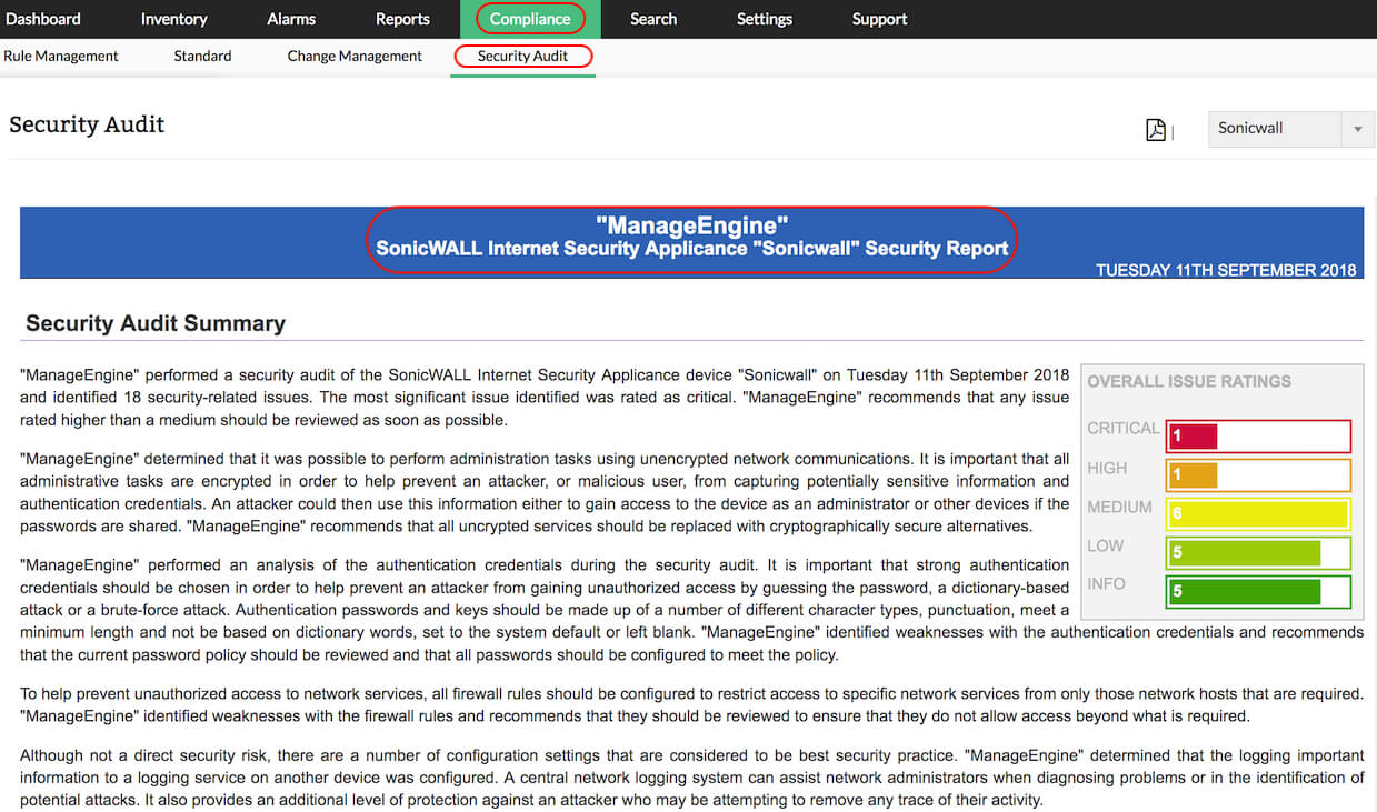 Firewall Security Audit | Firewall Configuration Analysis Tool with Security Audit Report Template