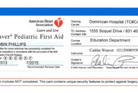 First Aid Certificate Template Free Certification regarding Cpr Card Template