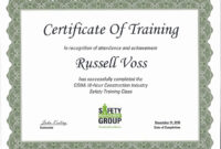 First Aid Course Certificate Template Training 30 Osha 10 regarding Osha 10 Card Template