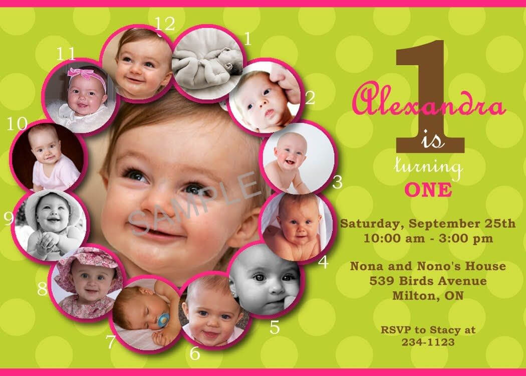 First Birthday Invitations Templates Free | Birthday for First Birthday Invitation Card Template