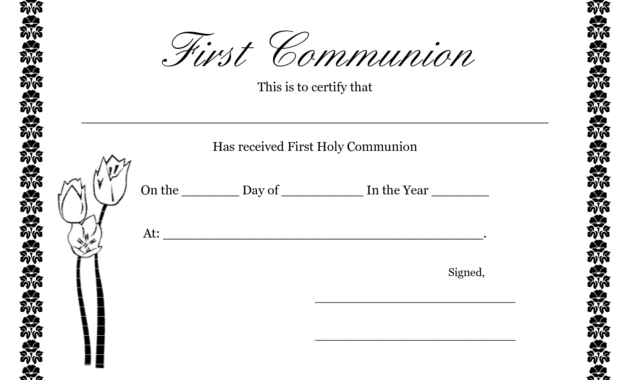 First Communion Banner Templates   Printable First Communion throughout Free Printable First Communion Banner Templates