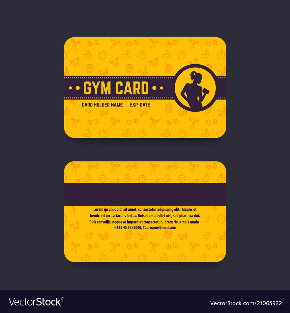 Fitness Club Gym Card Template pertaining to Gym Membership Card Template