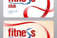 Fitness Club Membership Card Design Template. regarding Gym Membership Card Template
