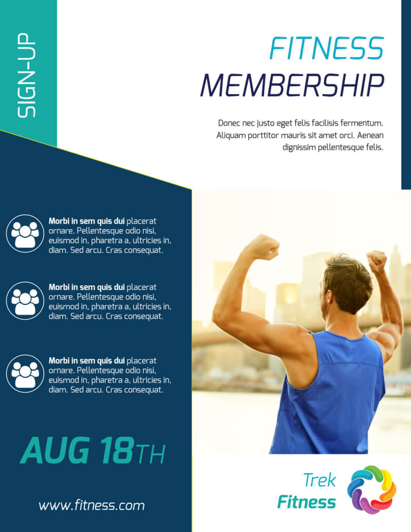 Fitness Membership Flyer Template regarding Membership Brochure Template