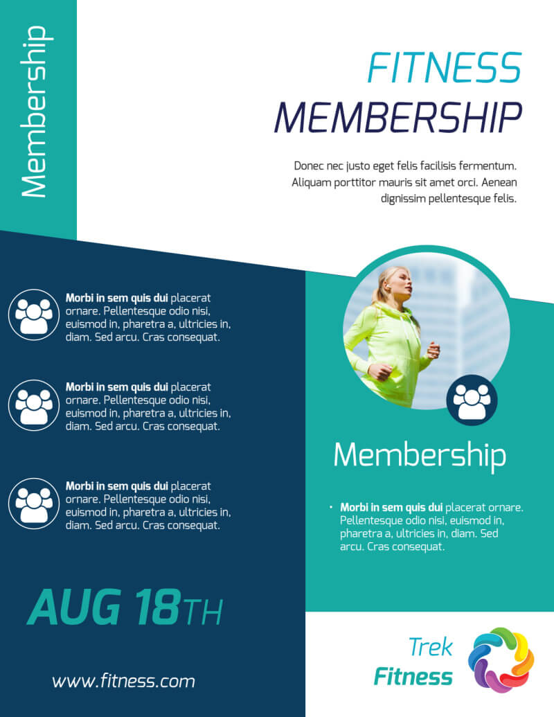 Fitness Membership Flyer Template within Membership Brochure Template