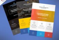 Flat Clean Corporate Business Flyer Free Psd | Psdfreebies with Cleaning Brochure Templates Free