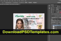 Florida Driver License Psd [Fl New Updated Template] intended for Florida Id Card Template