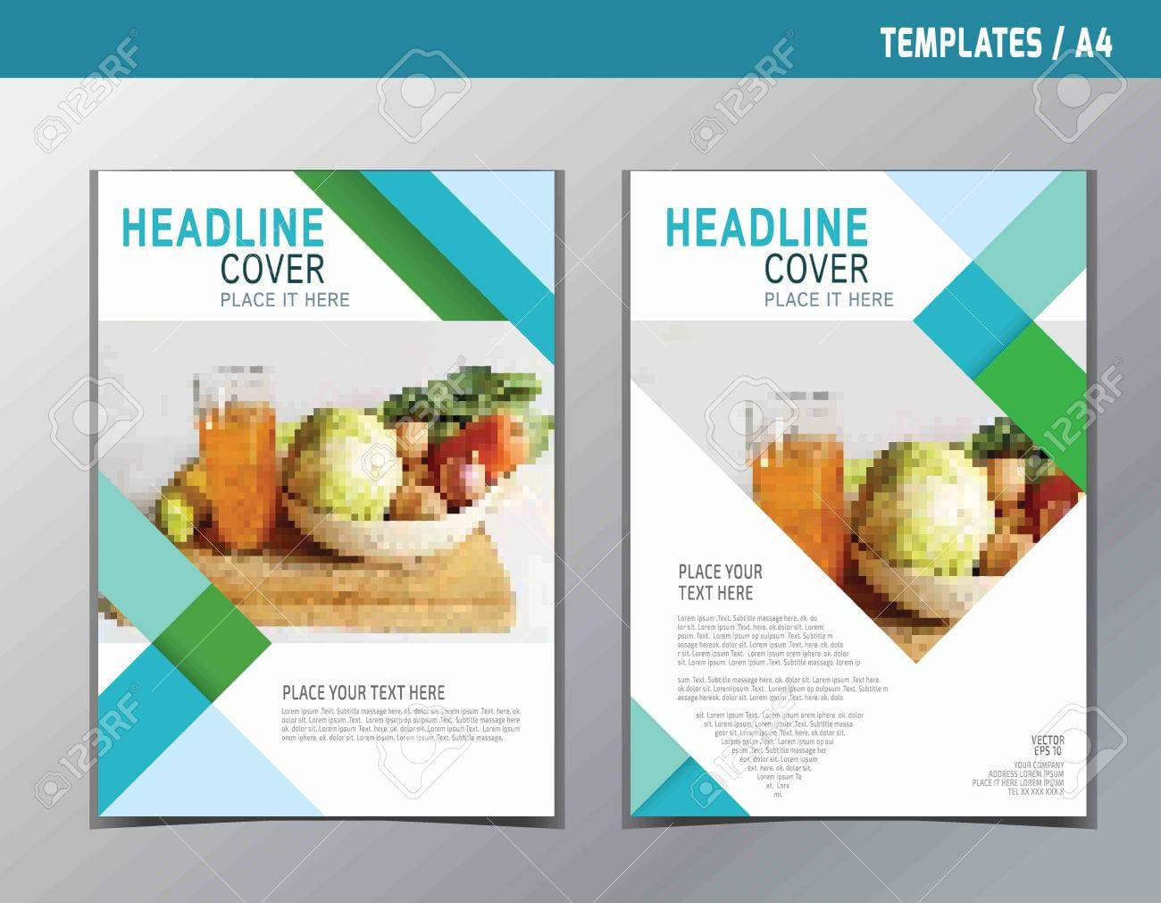Flyer Leaflet Brochure Template A4 Size Design.abstract Flat.. regarding Nutrition Brochure Template