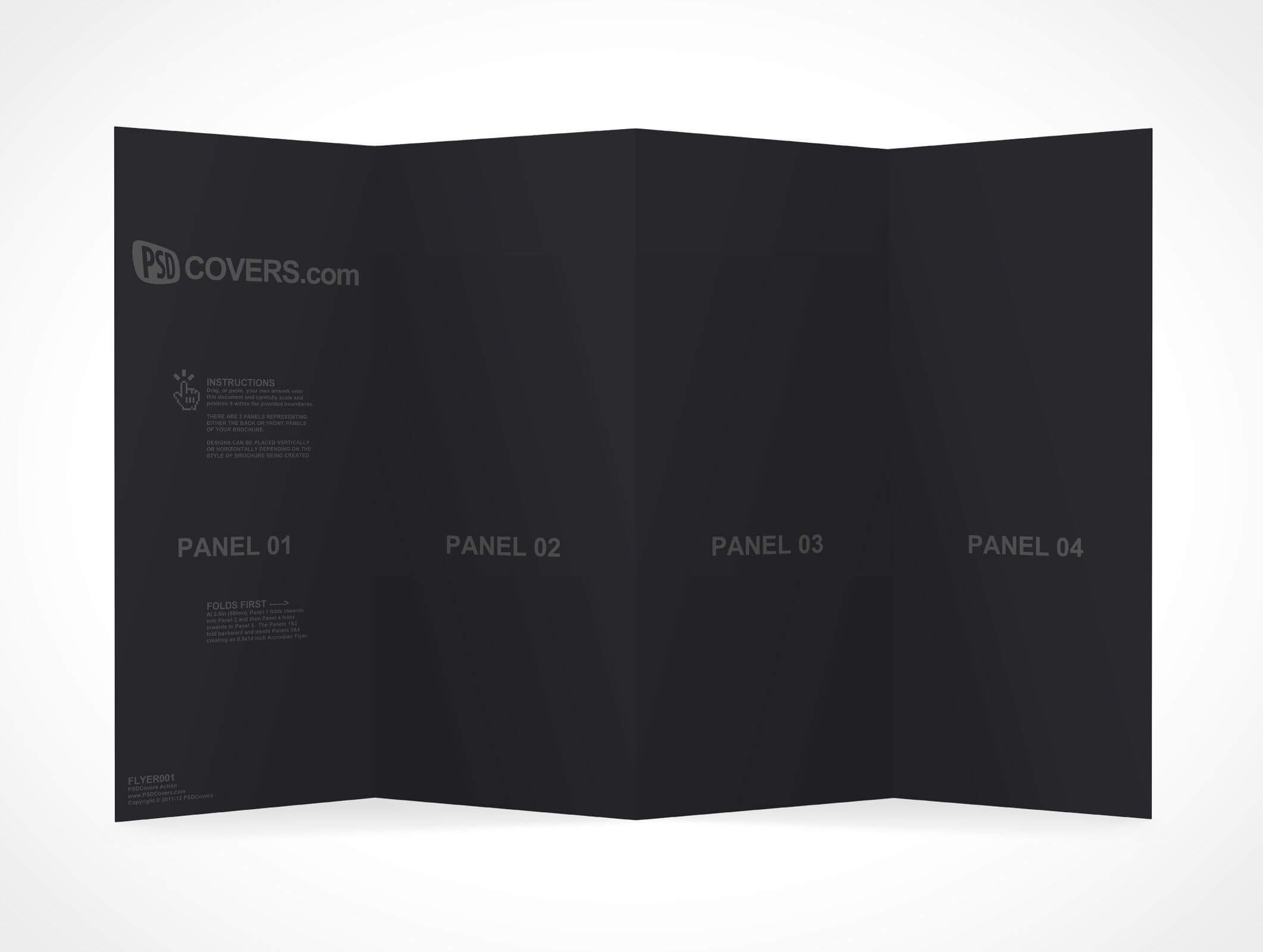 Flyer001 Is A 4 Panel Flyer Brochure Measuring 8.5 Inches Intended For 4 Panel Brochure Template