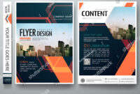 Flyers Design Template Vector. Abstract Blue Cover Book pertaining to Engineering Brochure Templates