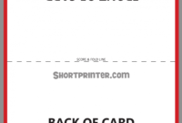 Folded Card Template Business Free Download Quarter Fold regarding Foldable Card Template Word