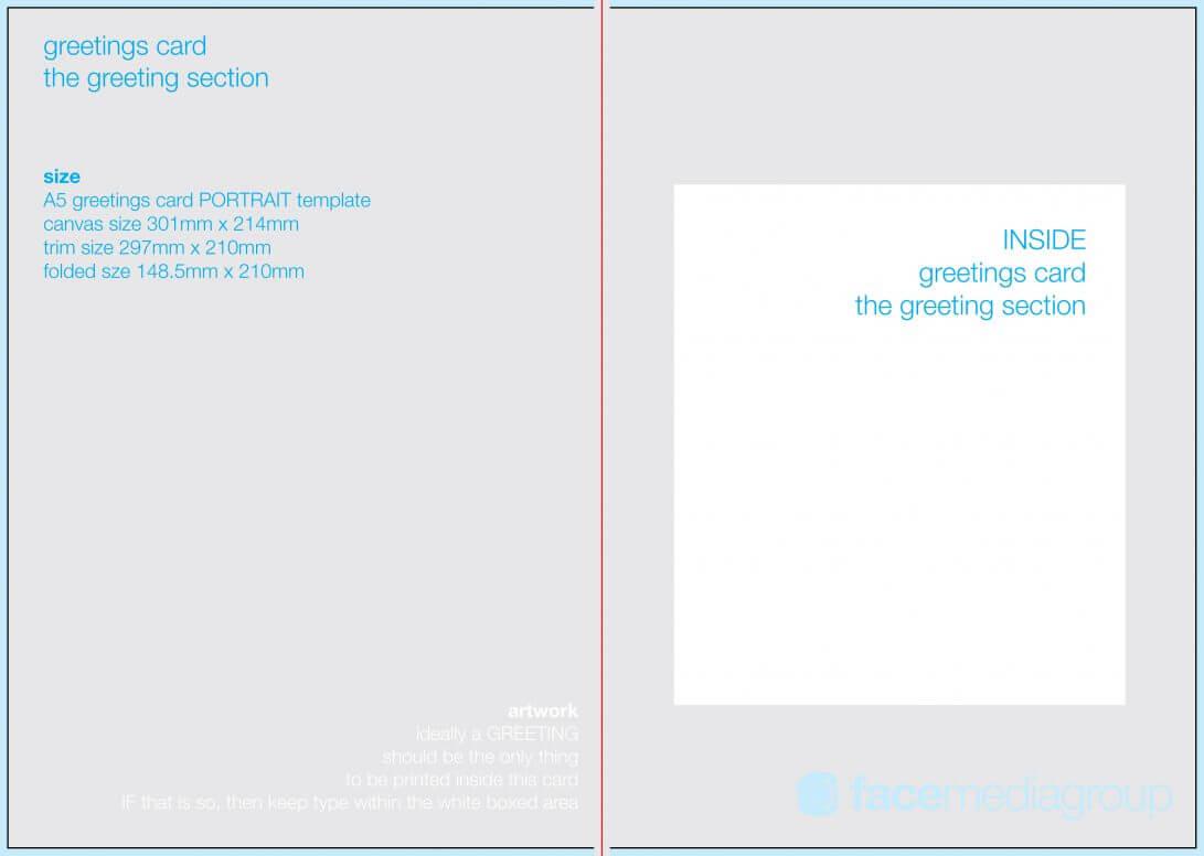 Folded Card Template Quarter Fold Photoshop Indesign Place within Blank Quarter Fold Card Template