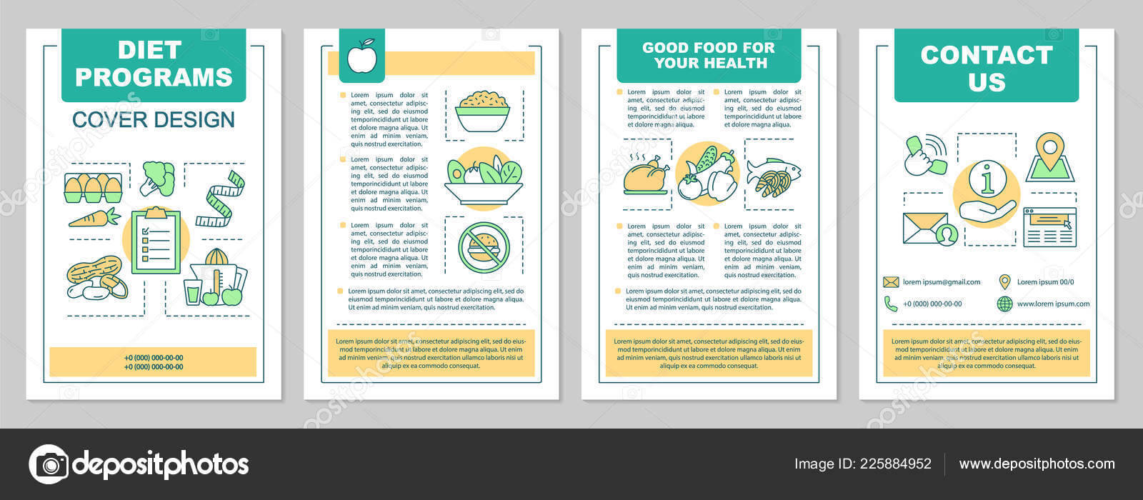 Food Magazine Layout Templates | Healthy Nutrition Brochure In Nutrition Brochure Template