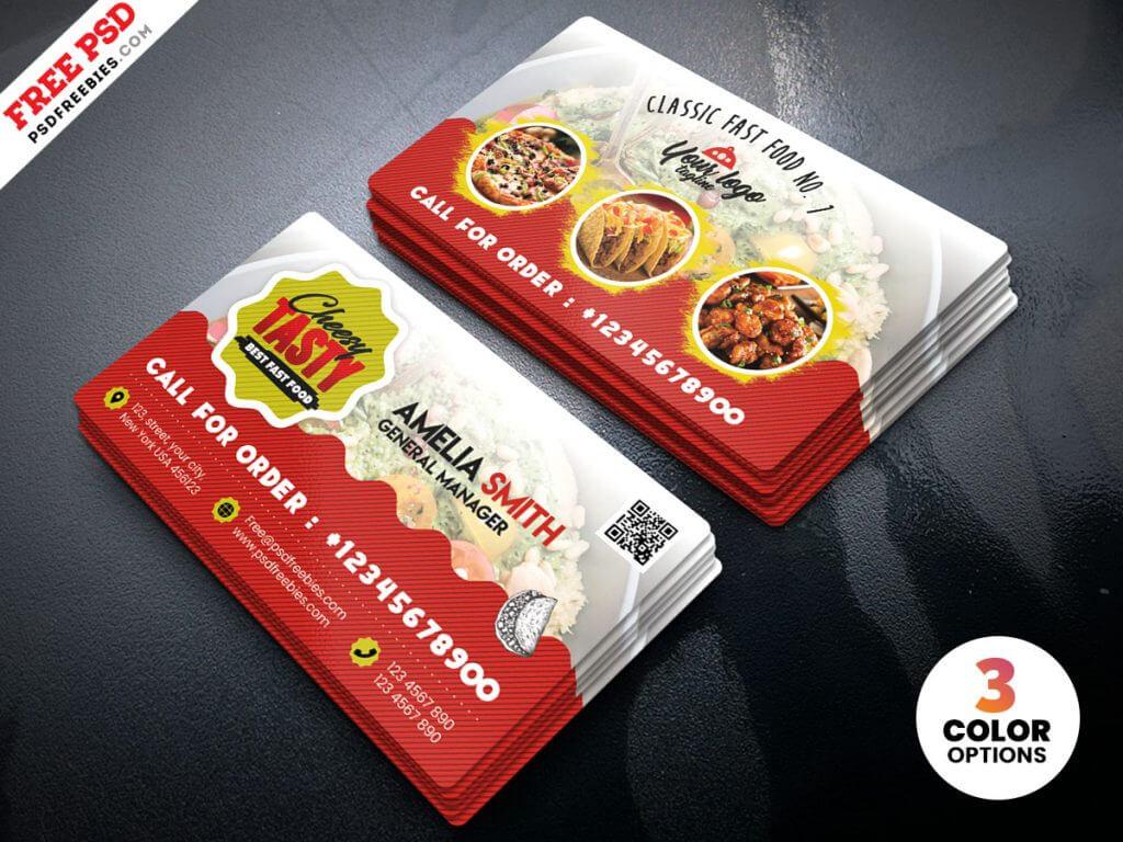 Food Restaurant Business Card Psd Template   Psdfreebies intended for Restaurant Business Cards Templates Free