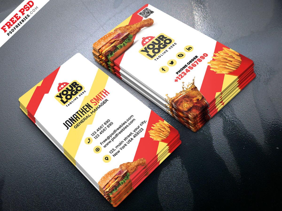 Food Restaurant Business Card Psdpsd Freebies On Dribbble for Restaurant Business Cards Templates Free
