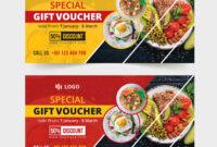 Food-Restaurant Gift Voucher Template #restaurant, #food in Restaurant Gift Certificate Template