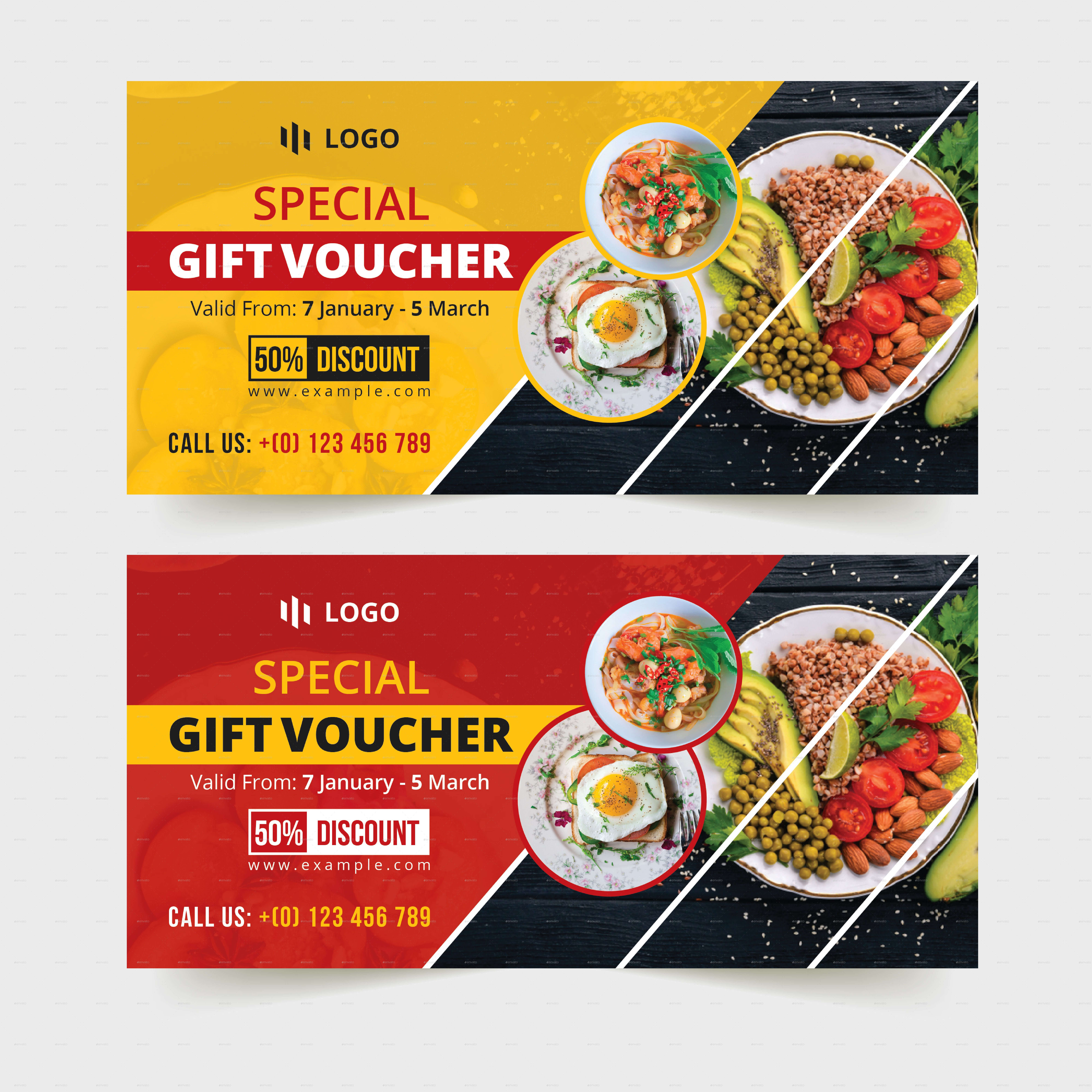 Food Restaurant Gift Voucher Template #restaurant, #food In Restaurant Gift Certificate Template