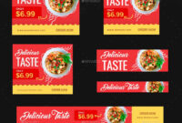Food Web Banner Set #web, #food, #set, #banner | Web Banner With Food Banner Template