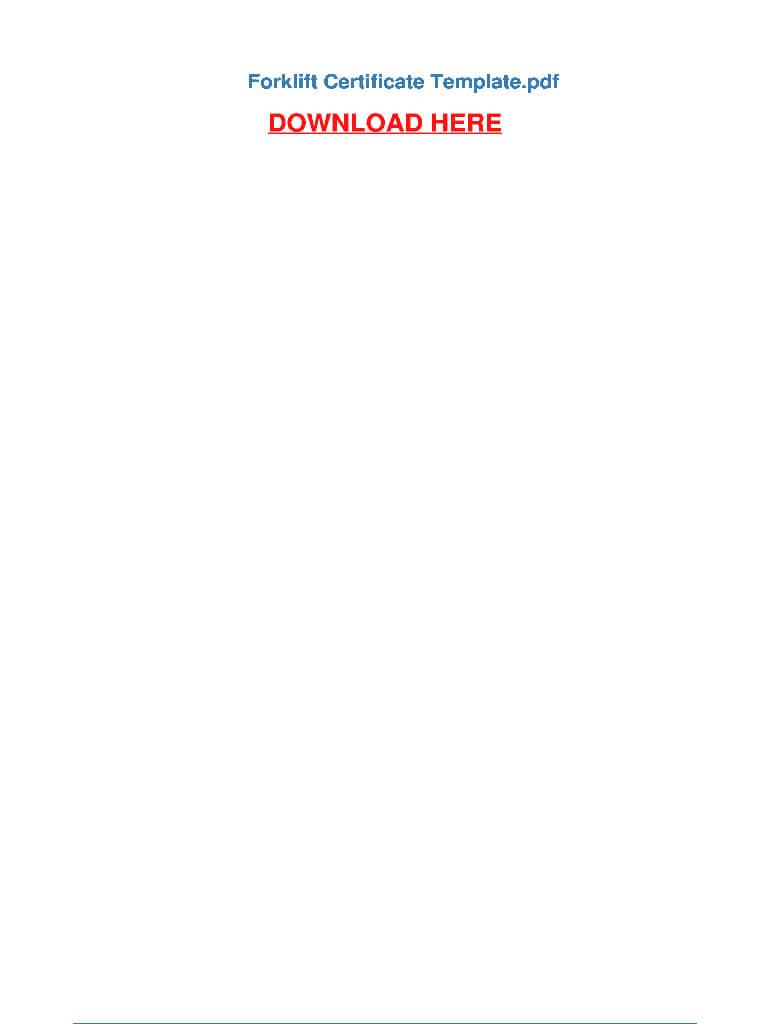 Forklift Certification Card Pdf - Fill Online, Printable inside Forklift Certification Template
