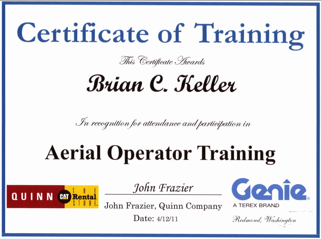 Forklift Operator Certificate Template New Uci Sound Design for Forklift Certification Template