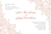Formal Invitation Template Blank 3 | Free Printable Wedding pertaining to Blank Templates For Invitations