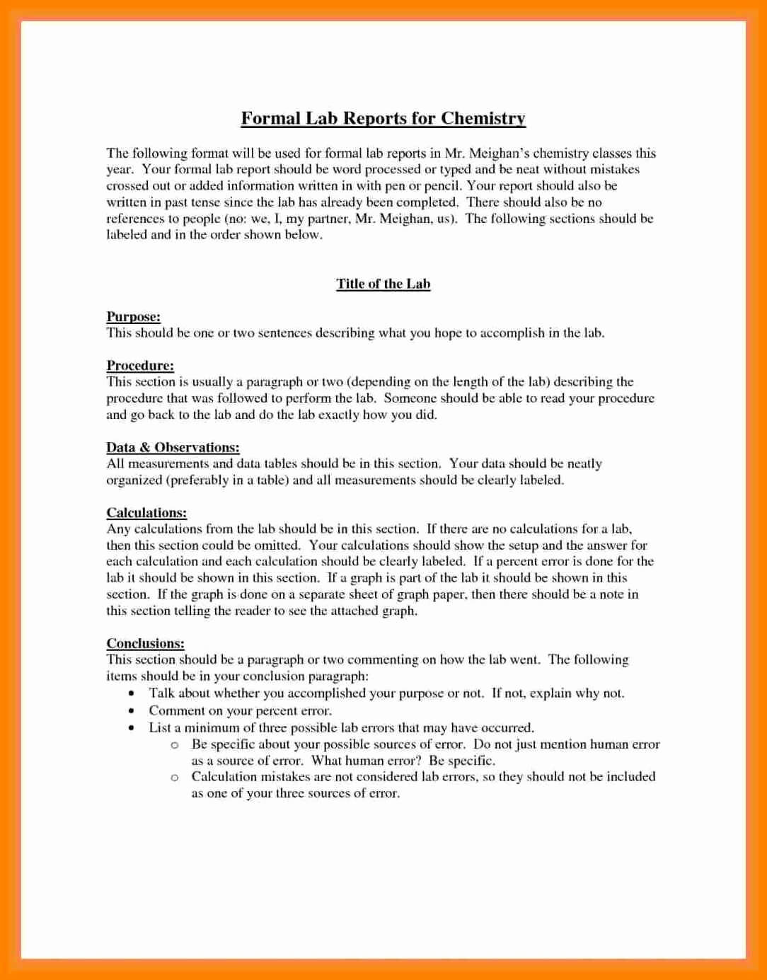 Formal-Lab-Report-Example-Best-5-Formal-Lab-Write-Up for Chemistry Lab Report Template