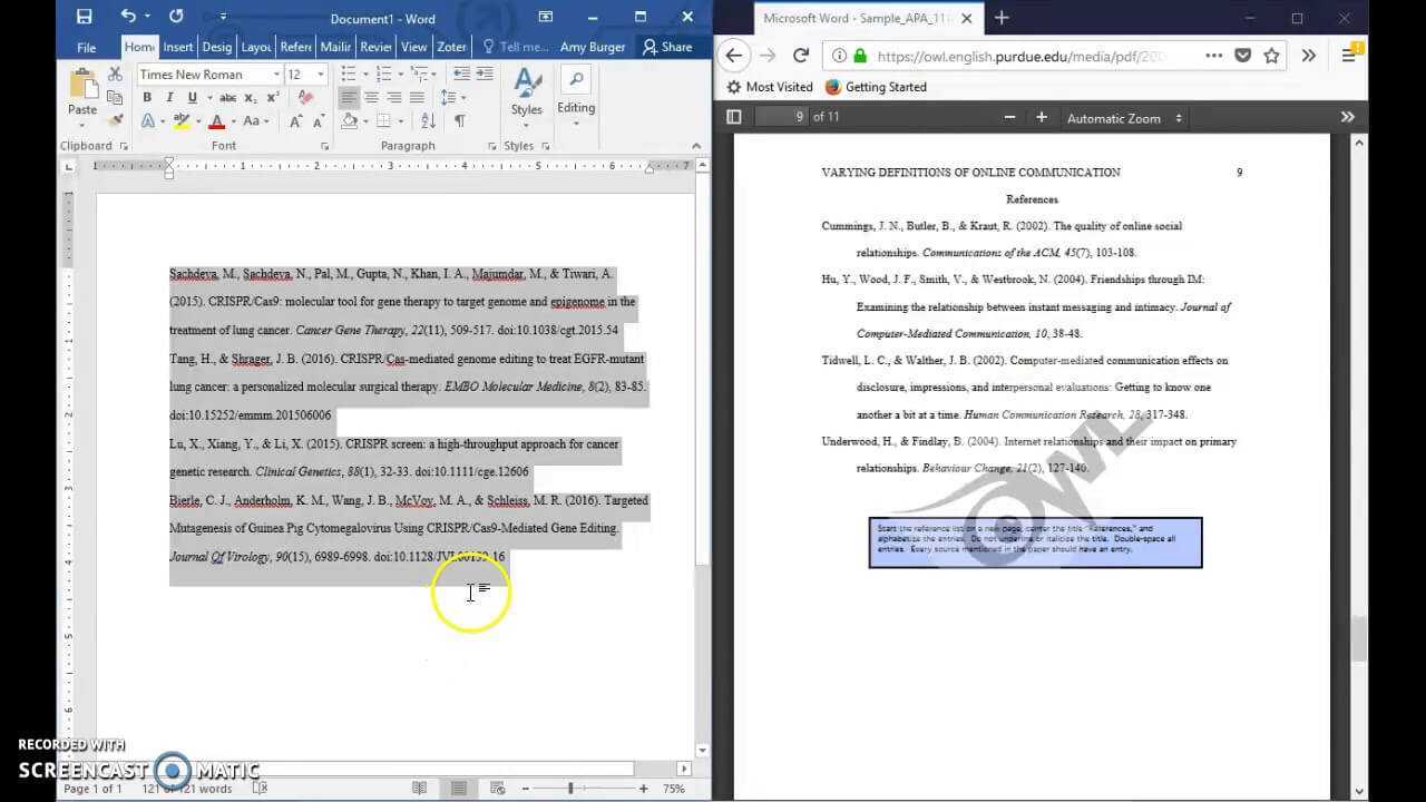 Formatting A References Page In Apa 6Th Edition Format (Current For 2018  2019) ~ Updated in Apa Word Template 6Th Edition